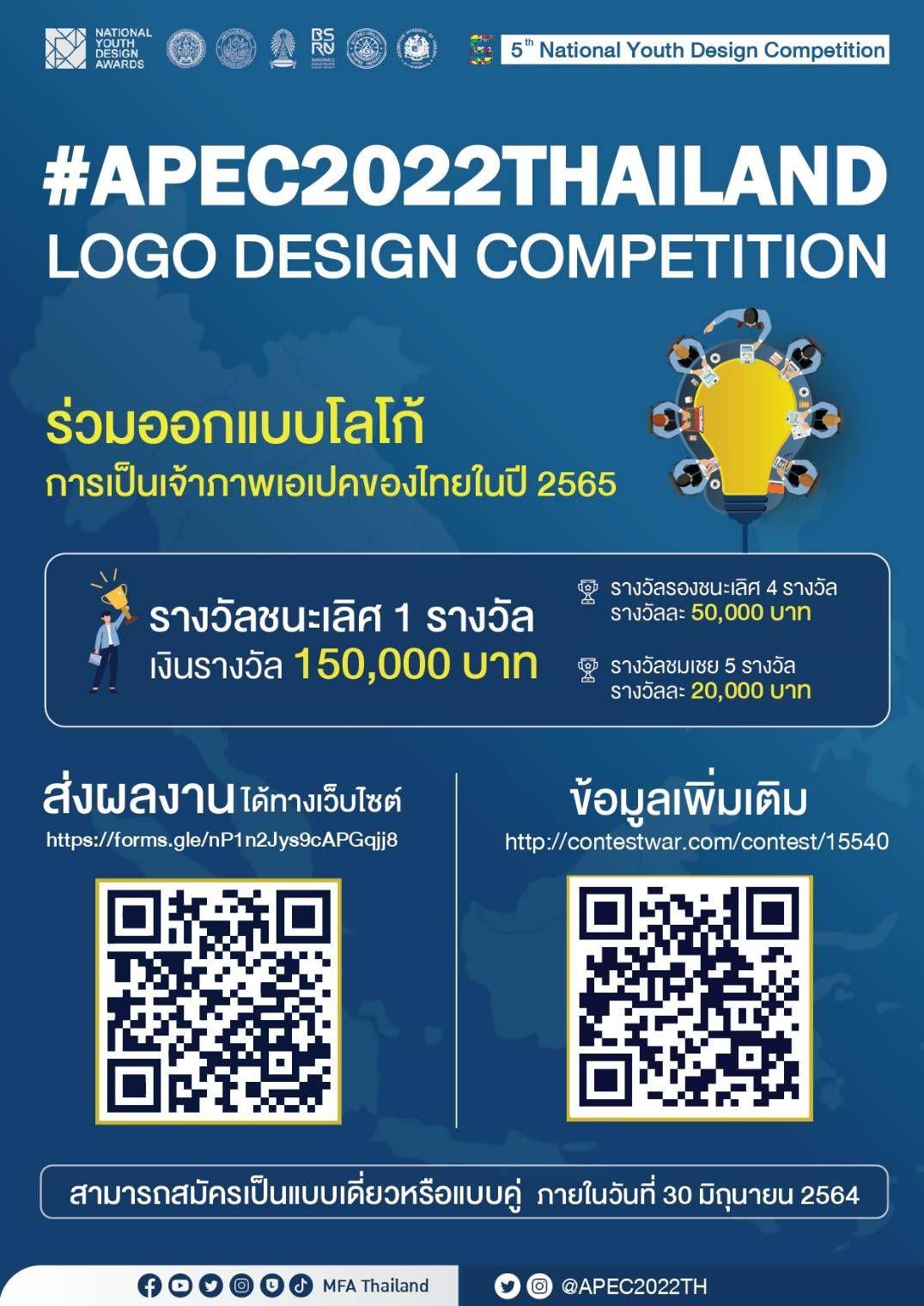 ร่วมออกแบบโลโก้ การเป็นเจ้าภาพเอเปคของไทยในปี 2565
